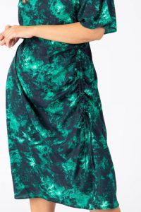Absract Adjustable Front Midi Dress