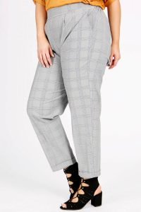 Grey Check Tailored Trousers