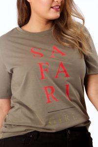 Khaki Safari Girl T-Shirt