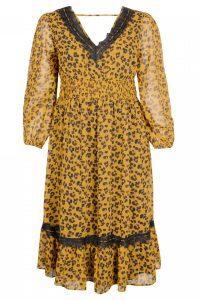 Wild Leopard & Lace Midi Dress