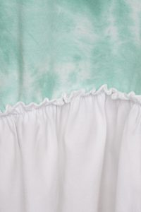 Green Tie Dye Oversized tshirt with Frill