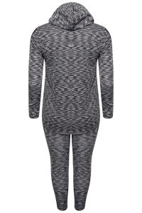 Grey Lounge Wear Wear Hoody and Leggings Set