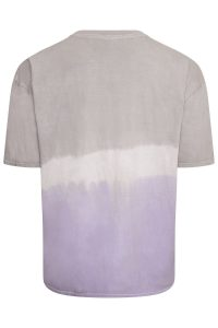 Lilac and Grey Dipped Tie Dye Oversized tshirt