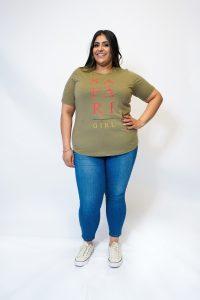 Khaki Safari Girl T-Shirt PZC-TJ-0030- FRT