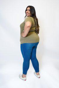 Khaki Safari Girl T-Shirt PZC-TJ-0030 PLUS SIZE BACK