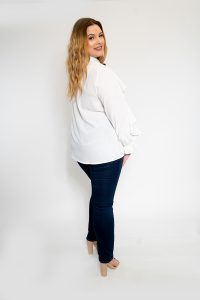 White and Black Shirt Ladies Plus Size