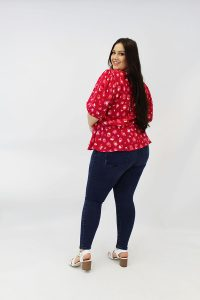 RED_SNAKE_PRINT_PUFF_SLEEVE_PLUSSIZE_BLOUSE_BACK