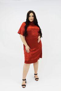 RUST_JACQUARD_PLUSSIZE_DRESS